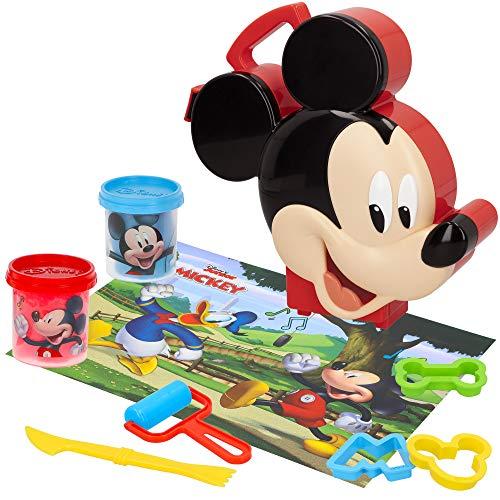 Disney - Plastilina botes Juegos Plastilina niños 3 años Plastilina infantil con Accesorios y Moldes Plastilina no tóxica blanda Plastilina Disney Maleta Mickey Mouse
