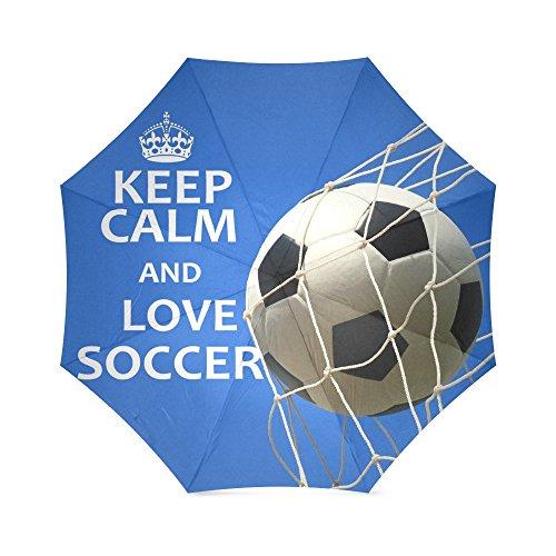 Moeders, vaders/broers geschenken voetbal citaten houden kalm en liefde voetbal 100% stof en aluminium hoge kwaliteit paraplu door voetbal bal paraplu