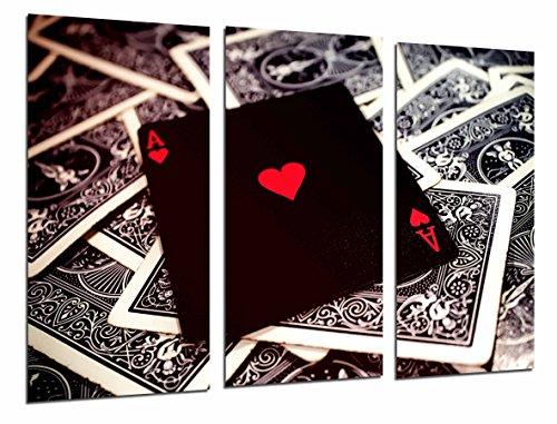 Fotoposter tafelspel Casino Pokerkaarten As of Hearts totale grootte 97 x 62 cm XXL