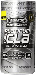 MuscleTech 800 mg Platinum Pure CLA - Pack of 90 Capsules by Muscle Tech