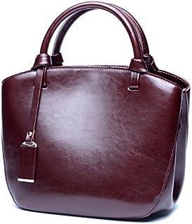 Leather Women's Tote Leather Women's Wallet Leather Retro Joker Crossbody Wallet Waterproof (Color : Purple, Size : M)