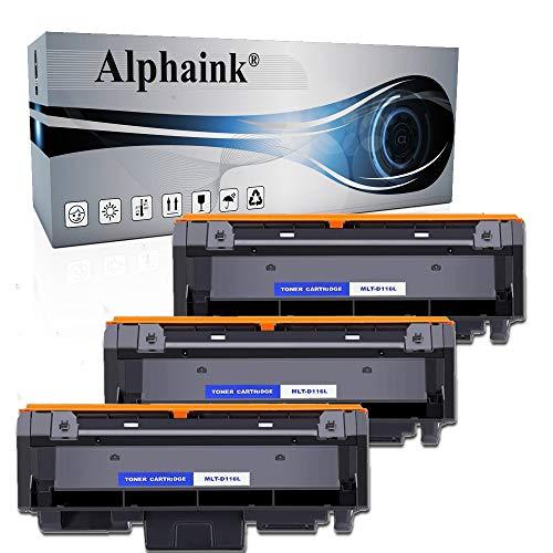 Alphaink 3 Toner Compatibile con Samsung D116L versione da 3000 copie per stampanti Samsung SL-M2620 2625 2626 2820DW 2826 2875FW Xpress M2620 2625 2820 2870 2875 2876 2885