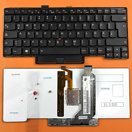kompatibel für Lenovo Thinkpad X1 Carbon Tastatur Gen 2013 - Farbe: schwarz - mit Beleuchtung - Deutsches Tastaturlayout