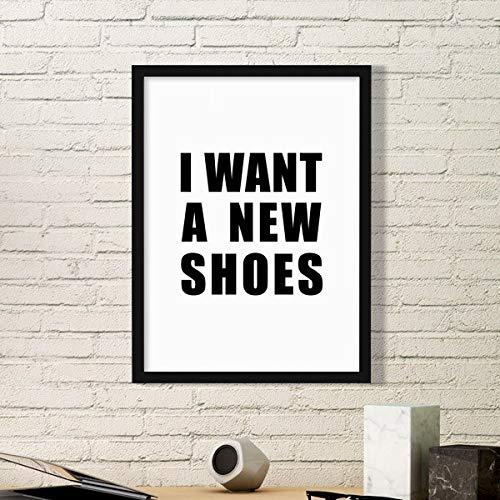 DIYthinker Ich möchte eine Neue Schuhe Einfache Bilderrahmen Kunstdrucke Malereien Startseite...