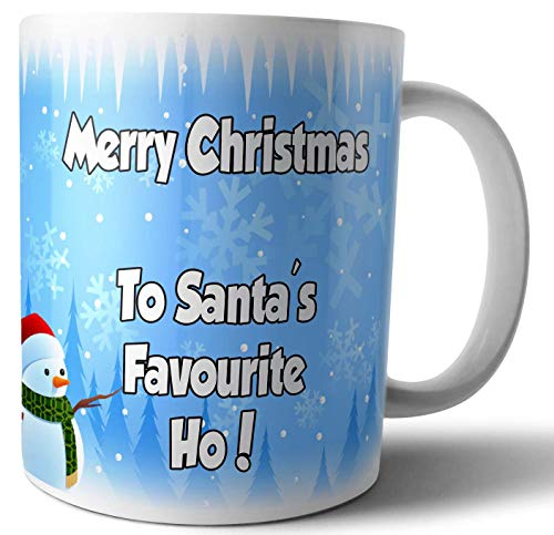 Vrolijk kerstfeest naar Santas Favourite Ho - Grappig - Rude - Cheeky - Thee - Koffie - Mok - Beker - Kerstmis - Cadeau - Geheime Kerstman - Stocking Filler