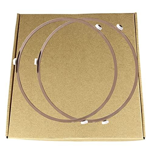 Bandeja para horno de microondas con diámetro interior 8. Bandeja giratoria de 7 pulgadas para bandeja giratoria de cristal (2 unidades/marrón)