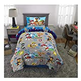 Paw Patrol Dogs on The Loose Kids Twin Bed Sheet Set 4Pcs Plus Bonus Tote -[Chase, Marshall, Skye and Their pals]