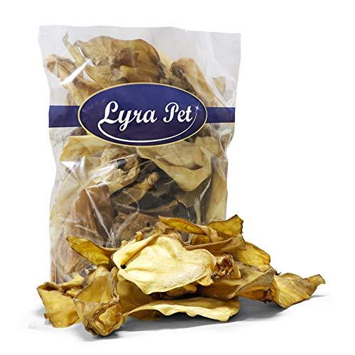 Lyra Pet® 100 Rinderohren ca. 3 kg Leckerli 3000 g Hundefutter wie Pansen Kausnack Ohren