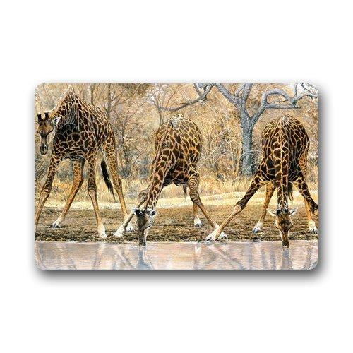Generic personnaliser New Fashion Design Girafe Welcome Paillasson Taille 45,7 cm (L) X30 \
