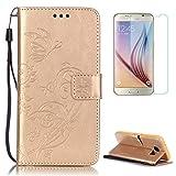 CaseHome Compatible with Case Samsung Galaxy S7 Edge Coque en Cuir [avec Gravuit...
