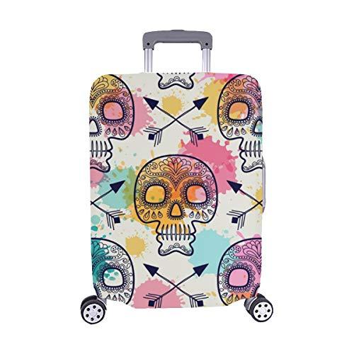 Cubierta de Maleta con Maleta Protectora de Equipaje de Viaje de Spandex del día Mexicano de Skull Vintage 28.5 X 20.5 Pulgadas