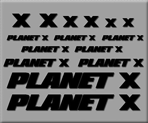Ecoshirt IT-8I8I-JTTK Planet X R238 Stickers en Vinyle pour vélo Noir