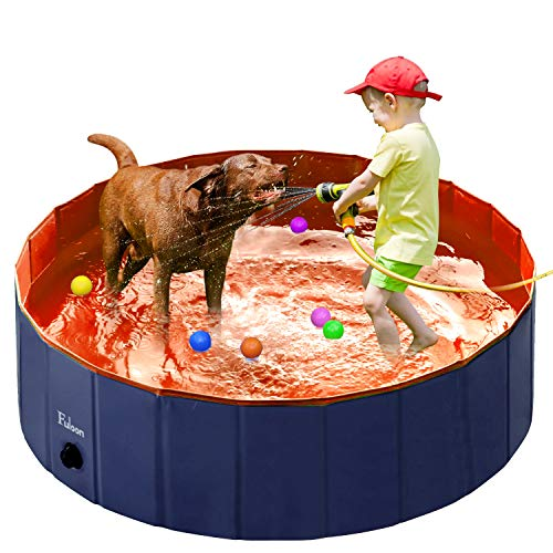 Fuloon PVC Pet Swimming Pool Portable Foldable Pool Dogs Cats Bathing Tub Bathtub Wash Tub Water Pond Pool Kiddie Pools for Kids in The Garden