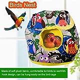 鳥の巣ハウスぬいぐるみハンギングハンモックベッドオウムインコオカメインコオウムConureラブバードbudgieにコンゴウインコEclectusオウムのためのケージを眠る、抱擁洞窟小屋のおもちゃを温めます lsmaa (Color : GrayS)