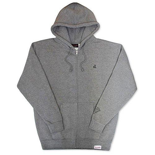 Diamond Supply Co. Mini Un Polo Zip Hoodie Grey