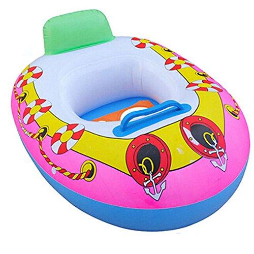 Ganquer Bebé Asiento de Piscina Inflable Entrenador Espesar PVC Niño Flotador Barco Anillo Balsa Silla de Playa Piscina Juguete