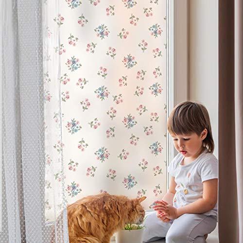 xinyawl Fensterfolie Selbstklebende Folie statische Glas Fenster Folie Dekoration Muster Privatsphäre Schutz Küche Schlafzimmer Dekoration