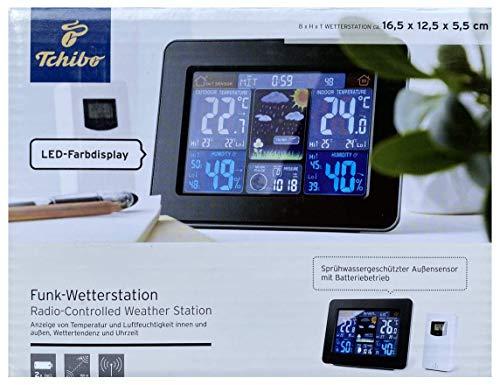 TCM Tchibo Funk Wetterstation mit Farbdisplay Innen und Außentemperatur Inkl. Außensensor
