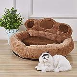 LFWZY Mascotas criadero Gato Wo Cuatro Estaciones Teddy Kennel Gato Perro Oso Lavable Espesado Mat Pata Nido