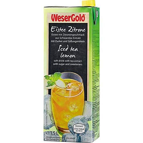 Wesergold Eistee, Zitrone, 8er Pack (8 x 1500 ml)
