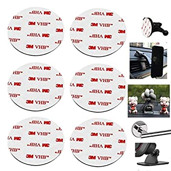 80mm 3.15   Circular Double Sided Sticky Pads 6Pcs Strong Adhesive Pad for Car Mount Mounting Holder Windshield GPS Camera Lock Sucker Suction Cup Hook Dashboard Toys  White