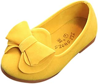Shoes,Toddler Kids Baby Girls Bowknot Slip On Mary Janes Casual Loafers Lazy Flats Shoes