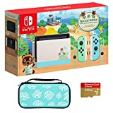 2020 Newest Special Edition, Nintendo Switch Animal Crossing: New Horizons, Internal Storage 32GB, Bundle Woov Animal Crossing Leaf Travel Carry Sleeve Case & Micro SD 256 GB
