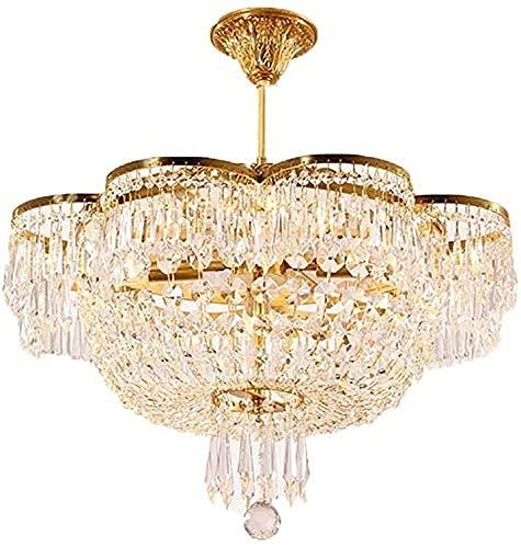ZCYY Lámpara de Techo de Cristal de Cobre Completo francés, lámpara Colgante de guardarropa para Dormitorio, lámpara de Entrada para Sala de Estar