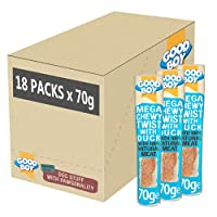 MADE WITH 100% NATURAL DUCK - I'm made with 100% natural duck breast meat so I'm sure to get your dogs' tail wagging CHEWY TREATS: We all know dogs love to chew and my chewy rawhide texture is great for your dogs' dental hygiene GRAIN FREE: I'm made ...