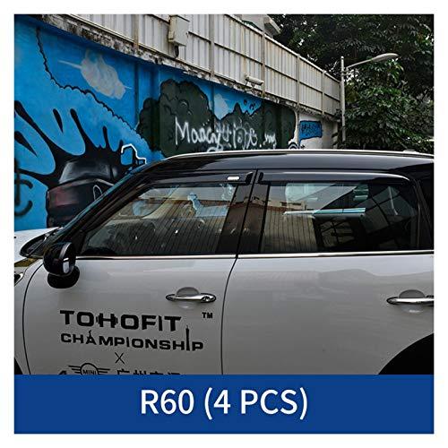 XCVUISDFJK Accesorios de Moto Window Visor Toldings Sun Rain Guard Case Accessories Modificación Fit para BMW Mini Cooper F54 F55 F60 R60 (Color : R60 4PCS)