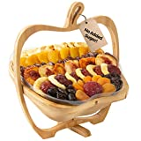 Oh! Nuts Christmas Gift Baskets Healthy Assorted No Sugar Added Dried Fruit Gourmet Holiday Family Party Gifts Vegan All Natural Prime Delivery Snack Food Tray Unique Thanksgiving Ideas for Men Women