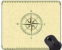 滑り止めのゴム製賭博のマウスパッド、コンパスのロープおよびガラスのコンパス滑り止めの端が付いているコンパスのマウスパッド