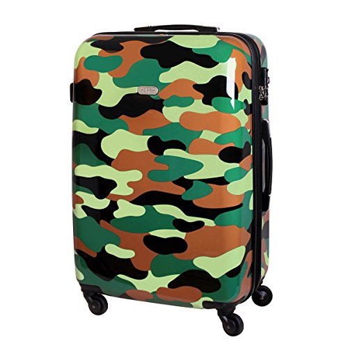 Karry XXL Hartschalen Reise Koffer Trolley TSA 110 L Dschungel Camouflage 820