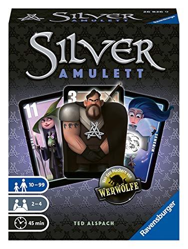 Ravensburger 26826 - Silver Amulett, Kartenspiel für 2-4 Spieler, Taktikspiel ab 10 Jahren, Charaktere von Werwölfe