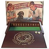 AGREATLIFE Jeu de Société Shut The Box – Boîte de dés Vintage à l'ancienne en Bois de pour 4 Joueurs - Jeu de société Amusant - Jeu de pub Anglais Classique pour Adultes et Enfants