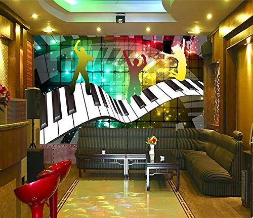 Wave Piano Musik Disco Ktv Bar Werkzeug Hintergrundwand-300Cmx210Cm