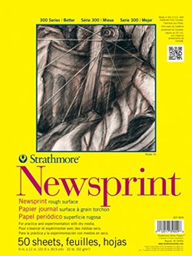 Strathmore STR-307-809 50 Sheet Rough Newsprint Pad, 9 by 12