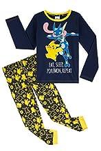 Pokemon Pijama Niño, Pijamas Niños de Invierno con Camiseta Manga Larga y Pantalon en Algodon, Pijama Pikachu, Ropa Infantil, Regalos para Niños y Adolescentes (5-6 años, Azul)
