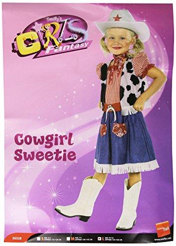 Smiffys - Costume Fillette Cow-Girl 10-12 Ans