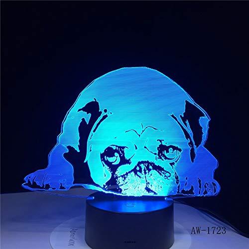 LIkaxyd Schlafenhund Bulldogge Pudel Jack Russell Terrier Rottweiler Dobermann3DVisual Illusion Lichter Kids Night Lights Style Lights