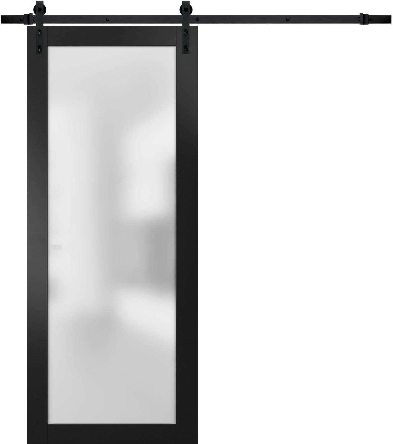 Sturdy Barn Door 30 x 84 Frosted Planum Challenge the lowest price of Japan ☆ Glass NEW before selling Tempered inches