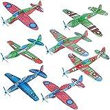 GOLDGE 10 PCS Aviones planeadores de Plastico+ EVA,Aviones planeadores Juguetes educativos para...