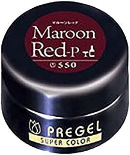 プリジェル スーパーカラーEX マルーンレッド-P 4g PG-SE550 by プリジェル(PRE GEL)