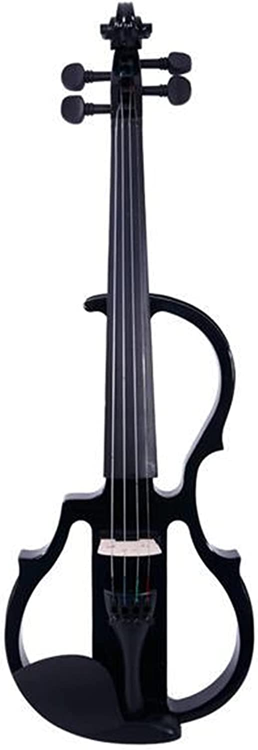 Samanthaa Super Special SALE held Discount mail order Beautiful Violin 4 Electroacoustic Paint Piano Black