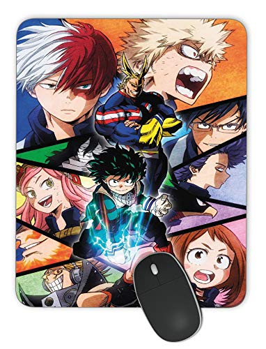 Personalized Rectangular Gaming Mouse Pad, My Hero Academy Animation Mouse Pad, Natural Non-Slip Rubber Mouse Pad