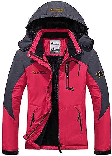 Dames outdoor bergbeklimmen jas skijas softshell plus velours mantel kleding dik waterdicht winddicht softshell bergen geschikt voor wandelen snowboard C