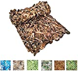 XAMAWA Camo Netting 300D Durable Camouflage Leaf Grass Net Blinds for Deer Army Nets Stand Military Camping Shooting Woodland Hunting Desert(1.5mx3m)