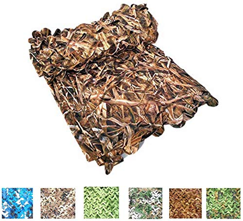 Discover Bargain XAMAWA Camo Netting 300D Durable Camouflage Leaf Grass Net Blinds for Deer Army Net...