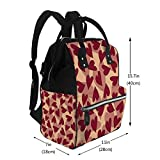 Diaper Bags Backpack Marsala Hearts Travel Backpack Nappy Bags For Baby Care
