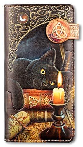 Fantasy-Geldbörse mit Katze - Witching Hour - geprägt | Geldbeutel, Mehrfarbig by Lisa Parker